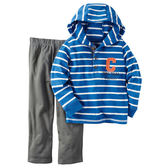 Carter's平行輸入童裝 男寶寶 薄連帽長袖上衣&褲子 藍【CA249G261】