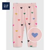 Gap女嬰兒柔軟妙趣印花彈力內搭褲525779-淺粉色