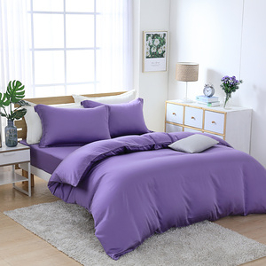 【Cozy inn】100%萊賽爾天絲 四件式兩用被套床包組-雙人藤紫