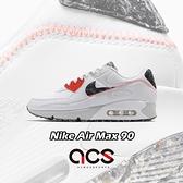 Nike 休閒鞋 Air Max 90 白 灰 男鞋 環保再生材質 絨毛 氣墊 運動鞋 【ACS】 DD0383-100