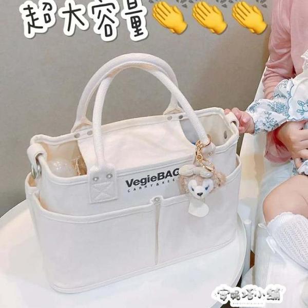 新款時尚日本vegiebag媽咪包帆布包女側背大容量手提托特包潮 夏季特惠