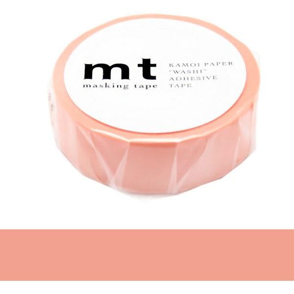 日本mt Masking Tape 和紙膠帶 橙紅色 15mm