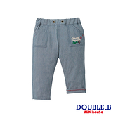 DOUBLE_B 黑熊刺繍休閒長褲