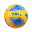 (B7) MOLTEN 4號足球 合成皮足球 訓練球 國小用球 PU機縫亮面材質 F4A2000-OB 橘藍 [陽光樂活]