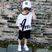 男童夏裝2019新款套裝3時尚帥氣4兒童短袖5寶寶6純棉7兩件套8歲潮-Ifashion