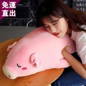 豬公仔暖手抱枕插手小玩偶女生睡覺女孩可愛趴趴毛絨玩具豬豬娃娃【快速出貨】