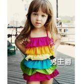 泳裝兒童泳裝女孩女童小公主可愛連身溫泉寶寶游泳裝幼兒小孩1-3歲(1件免運)