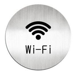 迪多Deflect-o 鋁質圓形貼牌-英文Wi Fi無線上網服務 613410C