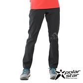 【PolarStar】女 彈性耐磨保暖長褲『黑』P20404 戶外│休閒│登山│露營│刷毛│禦寒│保暖