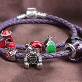 串珠手鍊 925純銀-水晶飾品聖誕小熊生日聖誕節禮物女配件73bm146【時尚巴黎】
