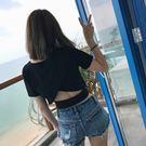 【gz k4】夏季軟妹露背小心機短款修身...