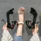 涼鞋女2020新款性感露趾蝴蝶結百搭仙女風網紅細跟高跟鞋夏季女鞋XL4225【東京衣社】