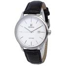 【台南 時代鐘錶 SIGMA】藍寶石鏡面 日期顯示 皮革錶帶男錶 1636M-2 白/黑 40mm 平價實惠的好選擇
