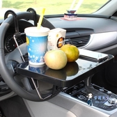 車載餐盤 車載方向盤電腦桌車用小桌子小飯桌餐桌車上多功能椅背餐台懸掛式T