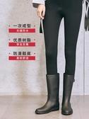 S 雨鞋女時尚款外穿成人韓國中筒水靴膠鞋防滑女士水鞋雨靴防水鞋