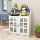 餐邊櫃現代簡約客廳茶水櫃微波爐碗櫃櫥房儲物櫃烤箱收納櫃子歐式  ATF  魔法鞋櫃