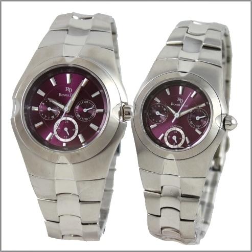 【萬年鐘錶】 Roven Dino 羅梵迪諾 楊丞琳代言 三眼對錶紫RD9801-RD9802