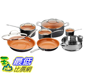 [8美國直購] 陶瓷不沾鍋 廚具套裝 Gotham Steel 12 Piece Copper Kitchen Set with Non-Stick Ti-Cerama Copper