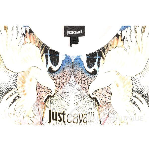 Just Cavalli 白鶴圖騰棉質短袖T恤 1620489-20