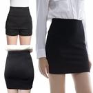 包臀裙簡設中長款高腰職業裙包臀裙安全褲黑半身裙OL高彈力一步裙女