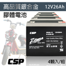 【CSP】EB26-12銀合金膠體電池1...