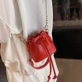 迷你包迷你水桶包小包包女2019夏季新款潮韓版百搭洋氣包鍊條時尚斜背包 新品推薦