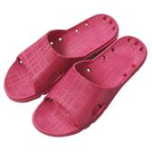 ALL CLEAN橫格紋浴室拖鞋 紅/39
