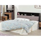床架 FB-009-1A 鐵刀木色5尺雙人床 (床頭+床底)(不含床墊) 【大眾家居舘】