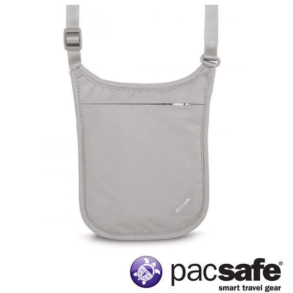 Pacsafe Coversafe™ V75 RFID 掛頸包-灰 護照包 旅遊 度假 出國 10139103