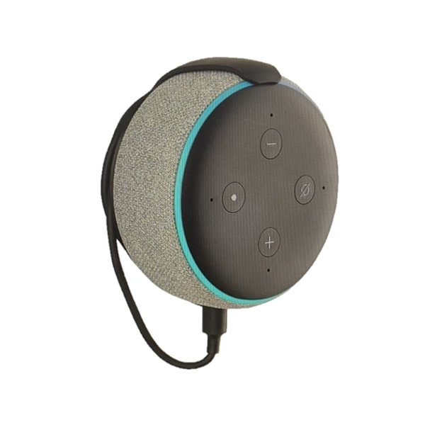 Amazon Mount 懸掛支架 Made for Amazon Mount for Echo Dot (3rd Gen) B07P6T8J87 黑/白 [9美國直購]