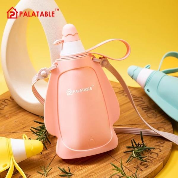 韓國網紅硅膠兒童水壺夏天可愛便攜防摔水杯小清新戶外運動軟水袋 格蘭小鋪