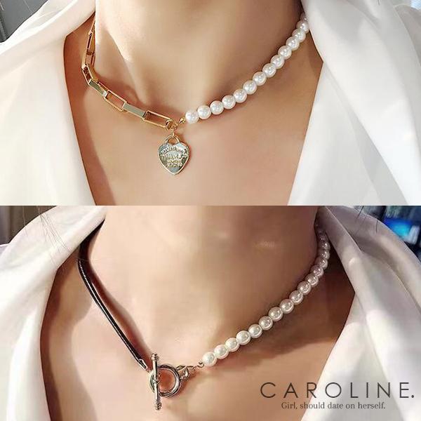 《Caroline》★韓國熱賣造型時尚  純淨,清爽,獨特項鍊70991