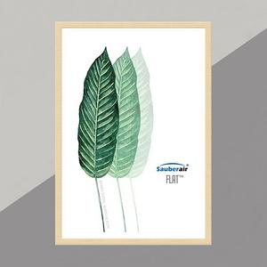 FLAT空氣清淨機 原木色框三片葉子