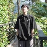 夏裝新款男士polo衫韓版寬鬆翻領印花短袖T恤日系休閒學生半袖潮 有緣生活館
