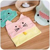 卡通可掛式擦手巾超強吸水 可愛韓版兒童抹手布搽手帕毛巾   蜜拉貝爾