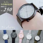 Crayon.香港FEIFAN。線條刻度雙色帆布大錶手錶對錶【ta500】*911 SHOP*