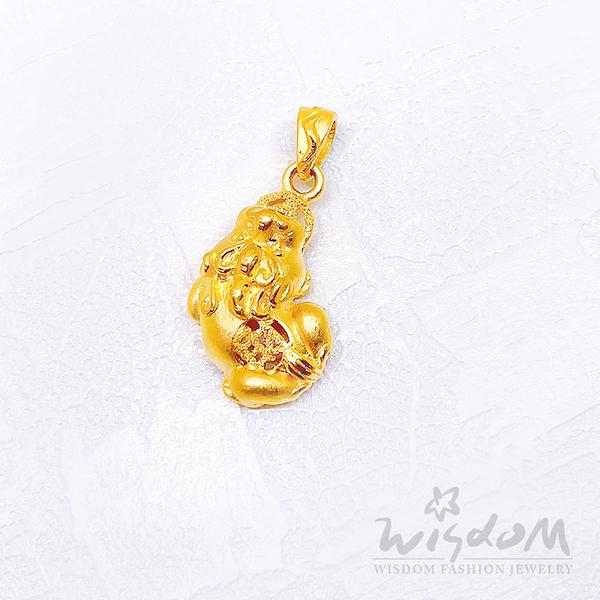 威世登 黃金貔貅墜(不含鍊) 金重約1.04~1.06錢 GD00511-HEX-FIX