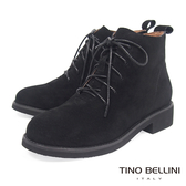 Tino Bellini中性況味休閒綁帶短靴 _ 黑  A69062