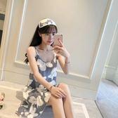 韓版吊帶睡裙女夏季棉質薄V領性感睡衣可愛日繫學生少女無袖冰絲 父親節禮物