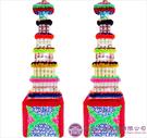【大堂人本】JY13- 木柱方形六層全飲料罐頭塔(338瓶)
