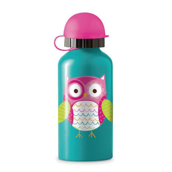 美國Crocodile Creek 環保兒童不鏽鋼水瓶/水壺-貓頭鷹