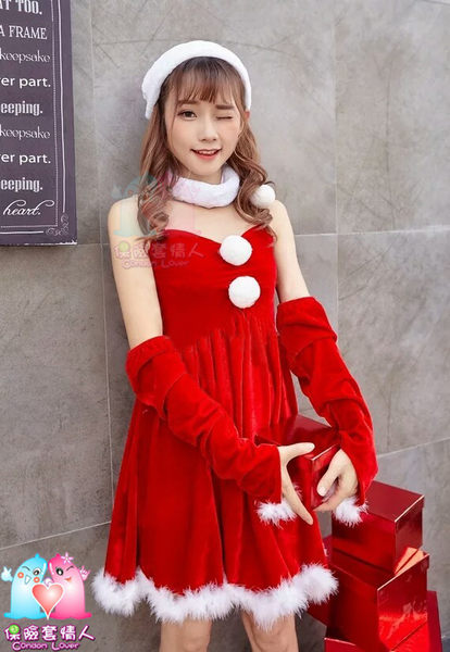 【愛愛雲端】 聖誕服  跨年 平口高腰連身公主 洋裝 舞台 Cosplay 尾牙 春酒 R8G06