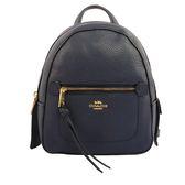 【COACH】皮革口袋後背包(小)(午夜藍) F30530 IMMID