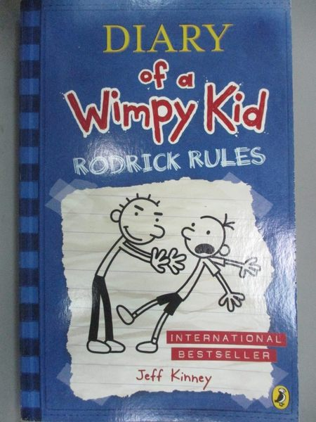 【書寶二手書T8/原文小說_LIN】Rodrick Rules-Diary of a Wimpy Kid_Kinney,