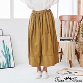 【Tiara Tiara】百貨同步新品aw 純色鬆緊腰長裙(綠/卡其)