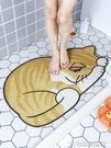 防滑墊卡通貓咪造型地墊浴室防滑墊衛生間洗澡淋浴防摔腳墊家用絲圈大號YJT 快速出貨