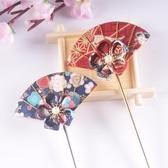 髮簪 閨蜜日本頭飾和風頭飾櫻花漢服髮夾和服髮飾古風髮簪日式簪子-凡屋