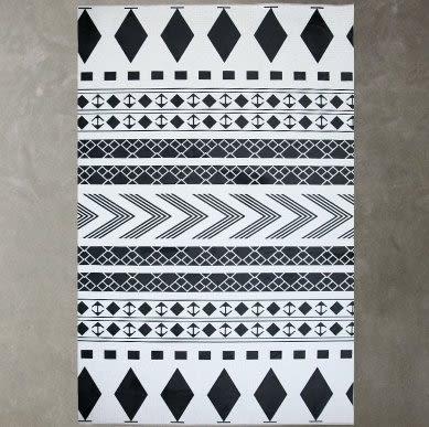 客廳地毯沙發茶几墊 北歐宜家房間臥室簡約現代幾何圖案長方形