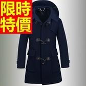 毛呢大衣-羊毛韓流短版防風男風衣外套2色62n24【巴黎精品】