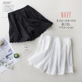 襯裙 安全褲防走光女夏 寬鬆三分褲素色棉麻刺繡薄款外穿透氣打底短褲韓國時尚週